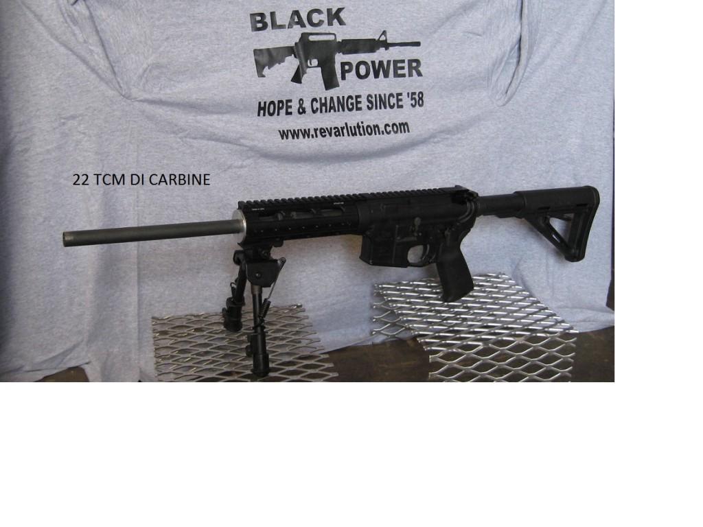 22 TCM 16″ Carbine DI upper – ready to go!